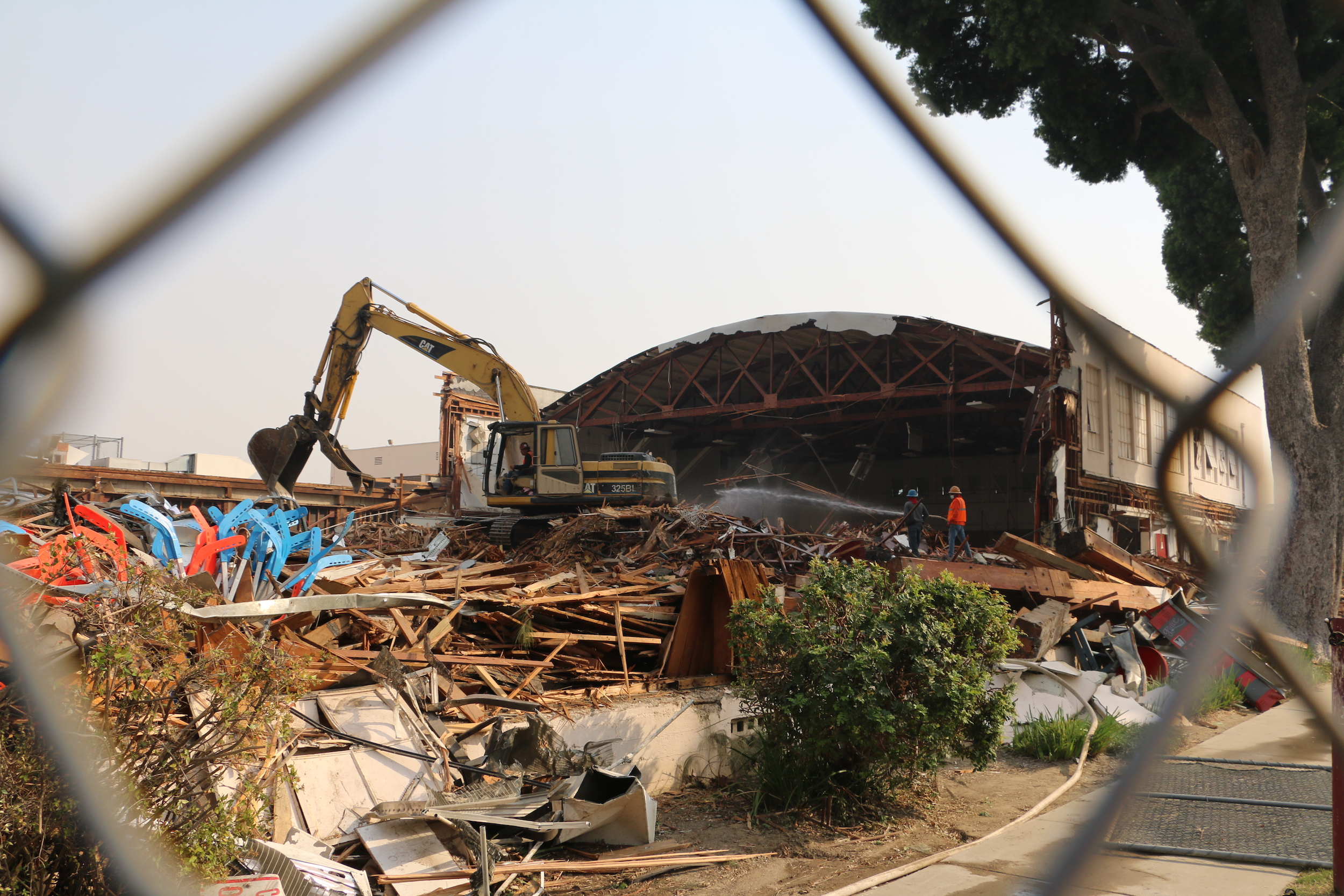 FUHS gym demolition